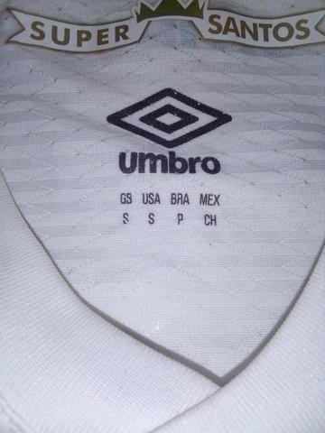 Camisa Santos branca Umbro 2018 - Foto 3