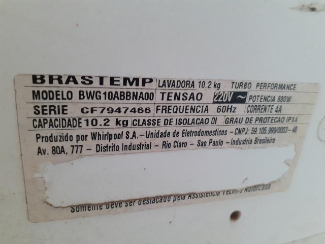 Vendo máquina de lavar Brastemp 10kg* defeito - Foto 4