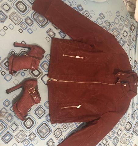 Sandália e jaqueta