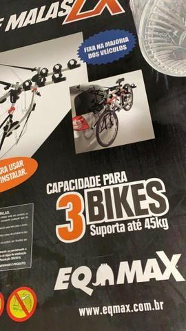 Suporte bicicleta carro para 3 Bikes