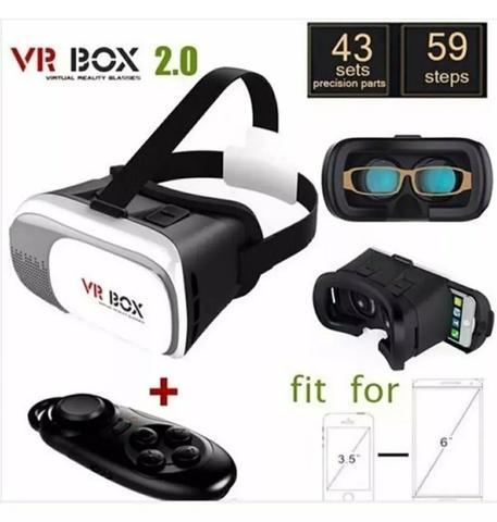Óculos Vr Box + Controle bluetooth