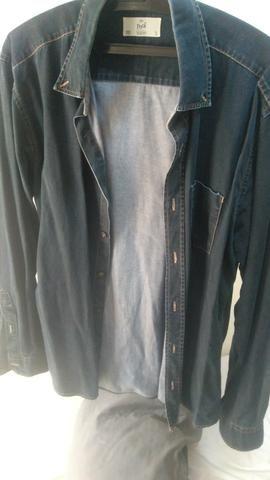 Camisa jeans Pool masculina tam 3 - Roupas e calçados - Messiânico ... 438edb8f6ee9b