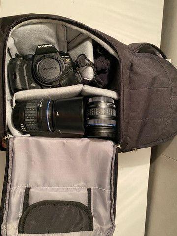 Camera Olympus E520+1Lentes + 1 Converter 2vz e mochila - Foto 6