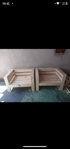 Unidade 280 Poltronas de madeira de pinus /palete novo - Foto 3
