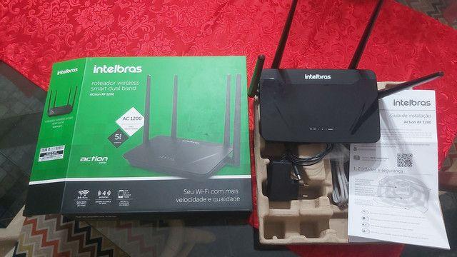 Roteador Intelbras Dual band AC 1200 RF 1200 - 5 Anos de Garantia   - Foto 2
