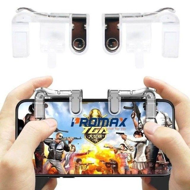 Gatilho L1 + R1 Pubg Celular Mira Jogo Tiro Fps Free Fire FF Pubg Cod mobile Gamepad - Foto 5