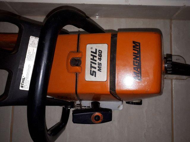 Vendo motor serra semi-novo 3 meses de uso  - Foto 2