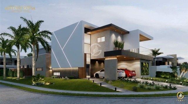 Belíssimo projeto  em um terreno de esquina privilegiado! Condomínio Alphaville Fortaleza - Foto 3