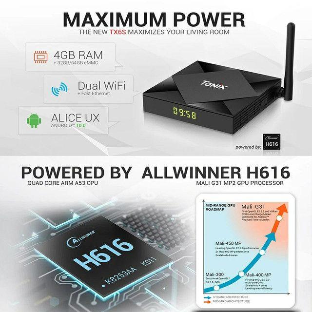 TV Box Tanix Tx6s 4/32 GB wifi 5g Bluetooth  USB 3.0 - Foto 2