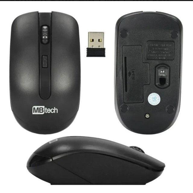 Mouse Sem Fio MBtech Wireless Óptico Recarregável Mac, Windows