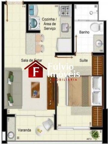 Apartamento com 1 Quarto, Andar Alto, Condomínio Completo em Águas Claras. - Foto 14