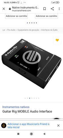 Interface de Áudio Guitar Rig Mobile USB - Foto 5