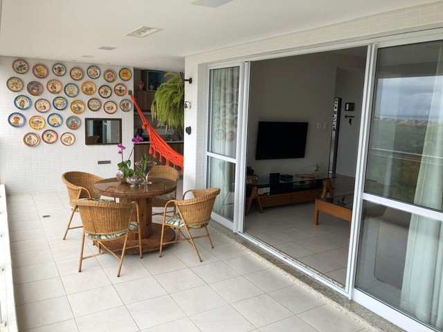 Aluguel Apartamento 180m², Nascente, 3 Suítes, Decorado e Mobiliado, em Patamares, Salvado - Foto 8