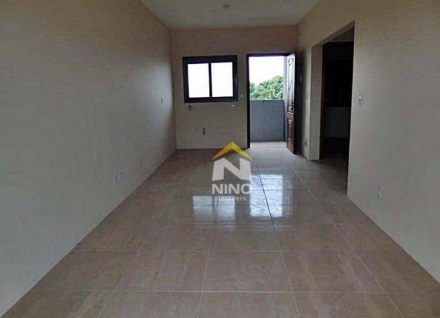 Apartamento com 2 dormitórios para alugar, 53 m² por r$ 1.000,00/mês - são vicente - grava - Foto 4