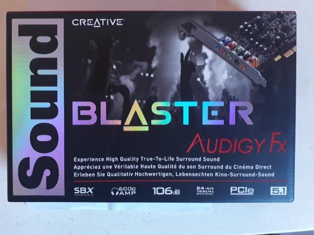 Placa Som Creative Sound Blaster Audigy Fx PciE- novo