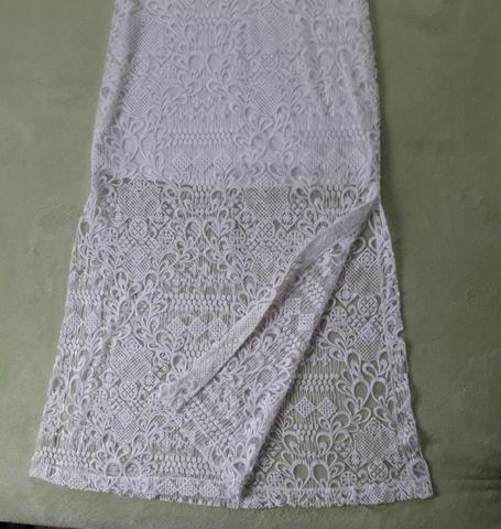 Vestido longo branco fendas nas laterais Tam. P - Foto 3