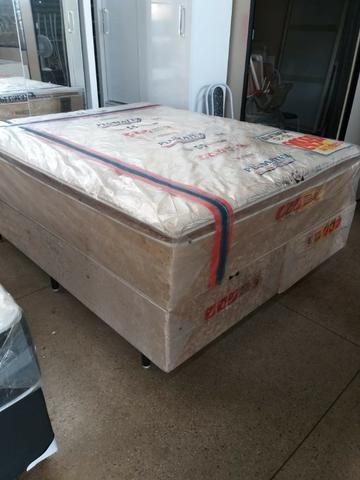 Cama box 158x198 queen size duox confort super confortavel 1999 a vista - Foto 2