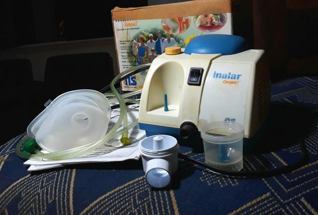 Inalador/ Nebulizador a AR COMPRIMIDO Completo - Foto 2