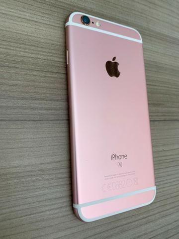 Iphone 6s 128Gb Rose Gold em Perfeito Estado Único Dono - Foto 2