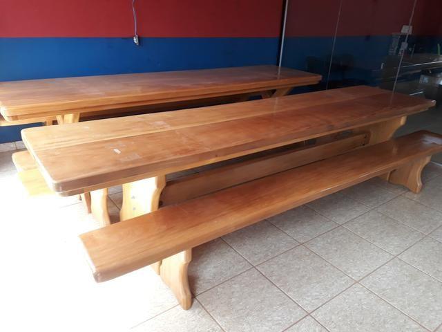 Mesa tipo da madeira garapeira - Foto 2