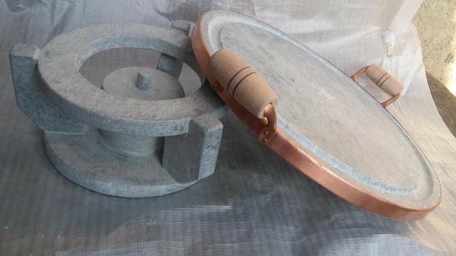 Kit de grelhe 32cm com fogareiro