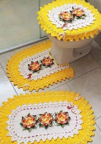 Jogo de banheiro de crochê - Foto 6