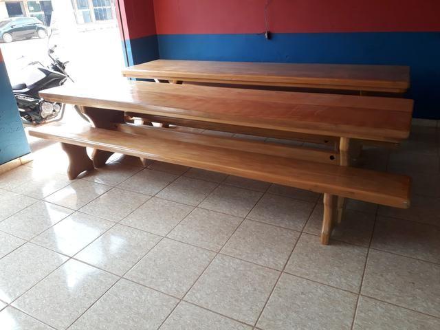 Mesa tipo da madeira garapeira - Foto 4