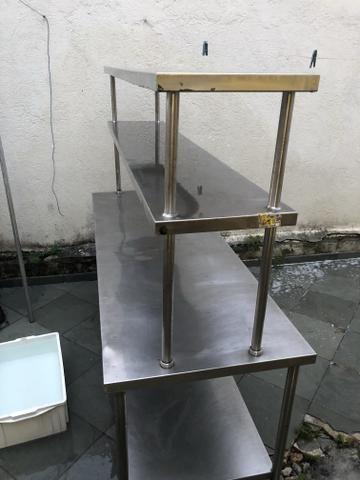 Mesa De Inox 3 Andares Para Cozinha Industrial Outros Itens Para