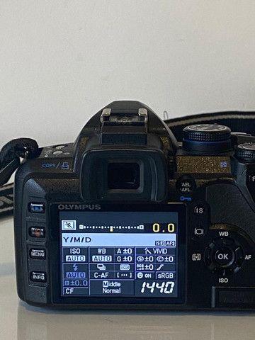 Camera Olympus E520+1Lentes + 1 Converter 2vz e mochila - Foto 5