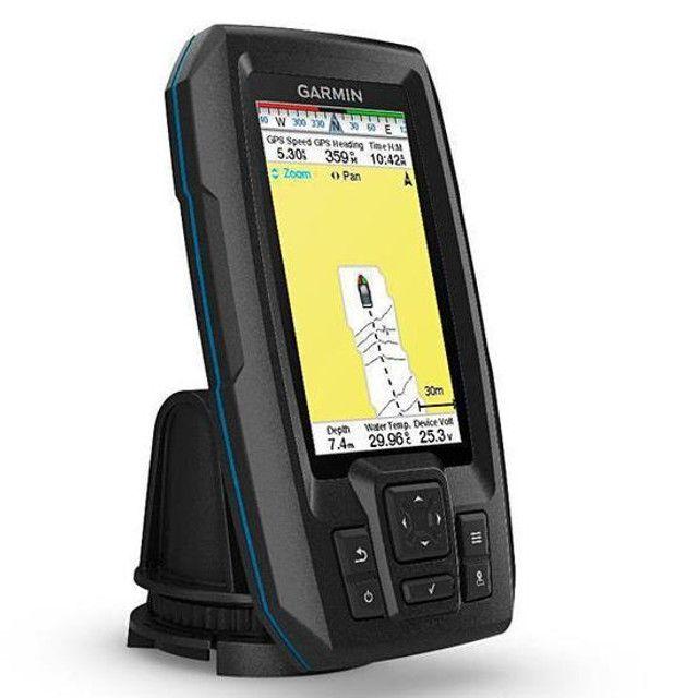 GPS Garmin Striker Plus 4 com Transdutor de Feixe Duplo - Foto 3