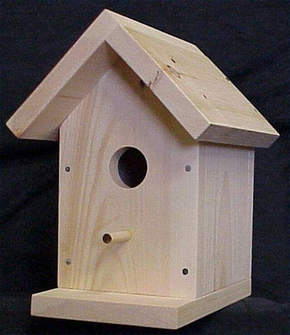 Artesanato casinha de madeira