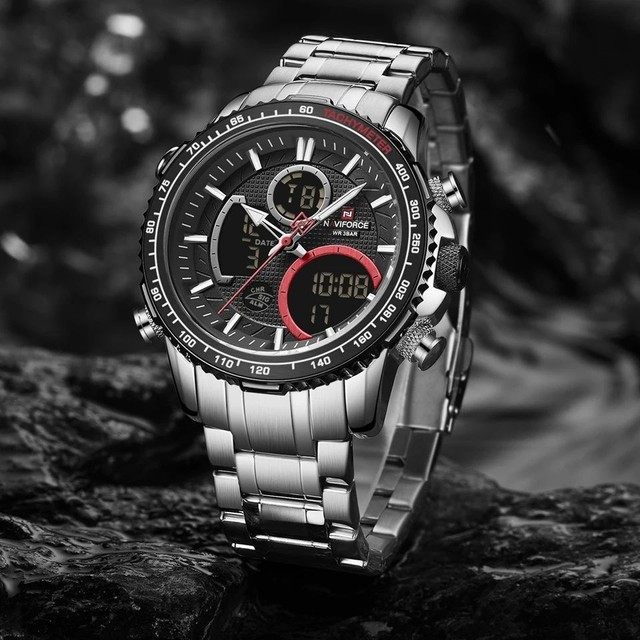 Relógio de pulso masculino original naviforce modelo 9182 - Foto 4