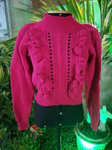 Casaco tricot linha mais maravilhosa!!