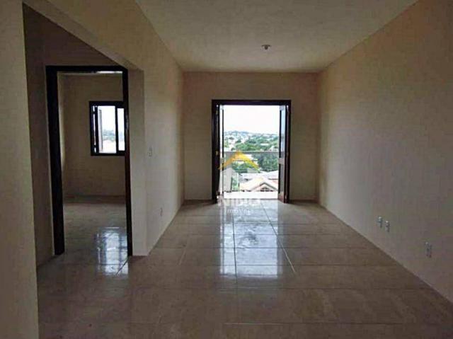 Apartamento com 2 dormitórios para alugar, 53 m² por r$ 1.000,00/mês - são vicente - grava - Foto 2