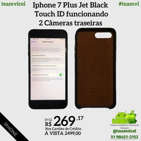 Iphone 7 Plus Jet Black 256gb - Foto 3