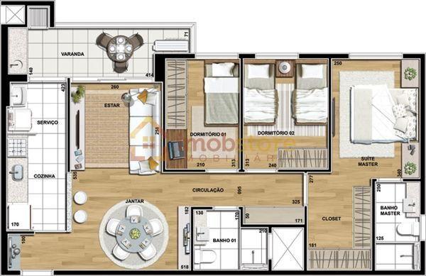 Apartamento  com 3 quartos no ED. TALENT - Bairro Fazenda Gleba Palhano em Londrina - Foto 2