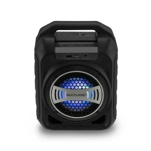 Caixa de Som Bluetooth Sp313 Multilaser 30W Com Efeitos Led Usb Rádio Fm Aux Micro SD - Foto 4
