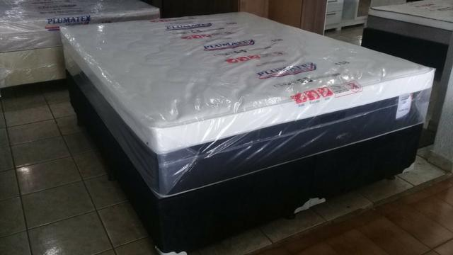 Cama queen size plumastar 158x198 mega saldão de 1399 por 999 a vista - Foto 4