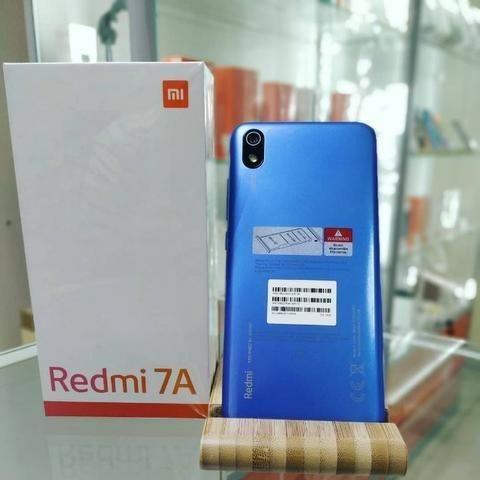 Celular Xiaomi Redmi 7A 16gb 2gb Ram + Película de vidro - Azul - Foto 2