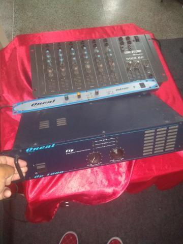 Mesa de som, potência, processador de efeito onial - Foto 2