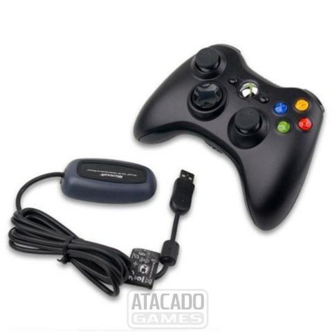 Controle x box 360 e adaptador para pc. aceito trocas