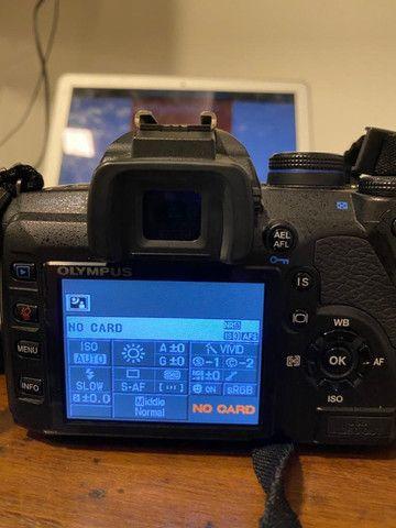 Camera Olympus E520+1Lentes + 1 Converter 2vz e mochila - Foto 3