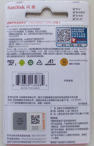 Cartao de Memoria Micro SD SanDisk Ultra 64gb Classe 10 - Foto 2