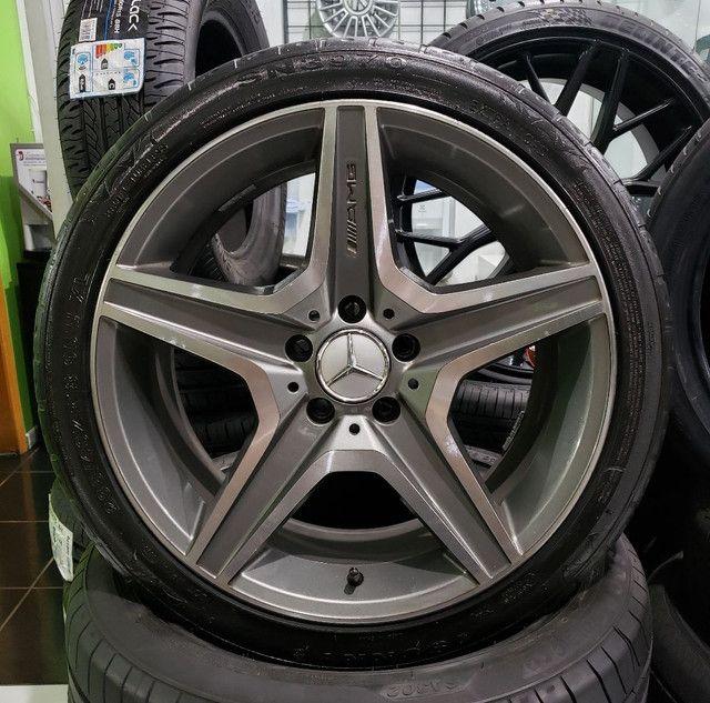 Jg Roda aro 18 5x112 Mercedes Amg + Pneu . COM SOLDA