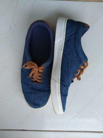 Tênis Masculino Polo Azul Jeans -Tam 40