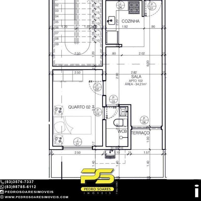 Apartamento com 2 dormitórios à venda, 34 m² por R$ 0 - Bancarios - João Pessoa/PB - Foto 3