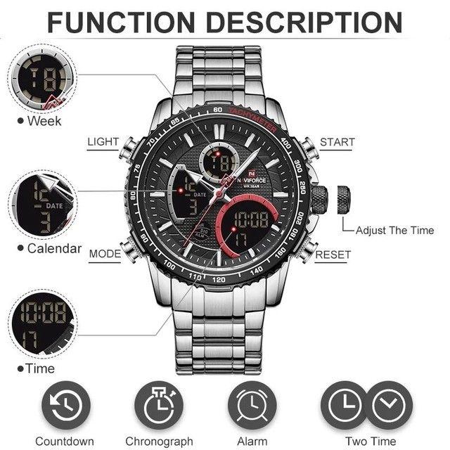 Relógio de pulso masculino original naviforce modelo 9182 - Foto 2