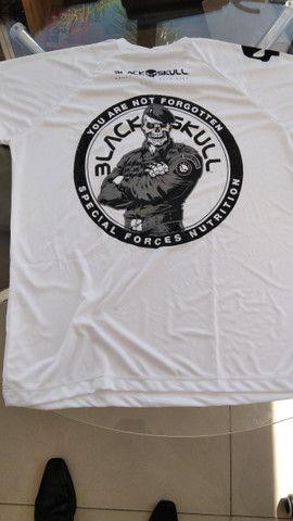 Camisas Black skull ( branca ) ( preta) novas - Foto 5
