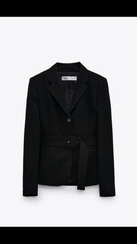 Blazer com cinto Zara  - Foto 2