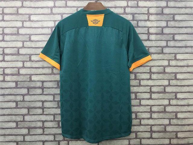 Camisa Fluminense III 20/21 S/n° Torcedor Masculina Verde+Laranja - Foto 2